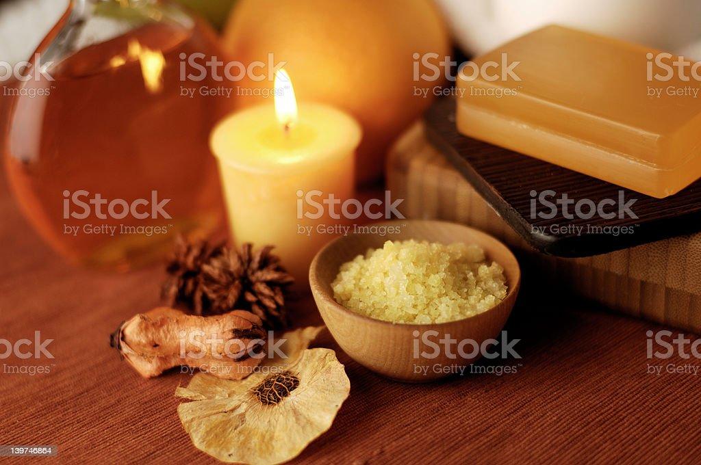 Orange Spa royalty-free stock photo