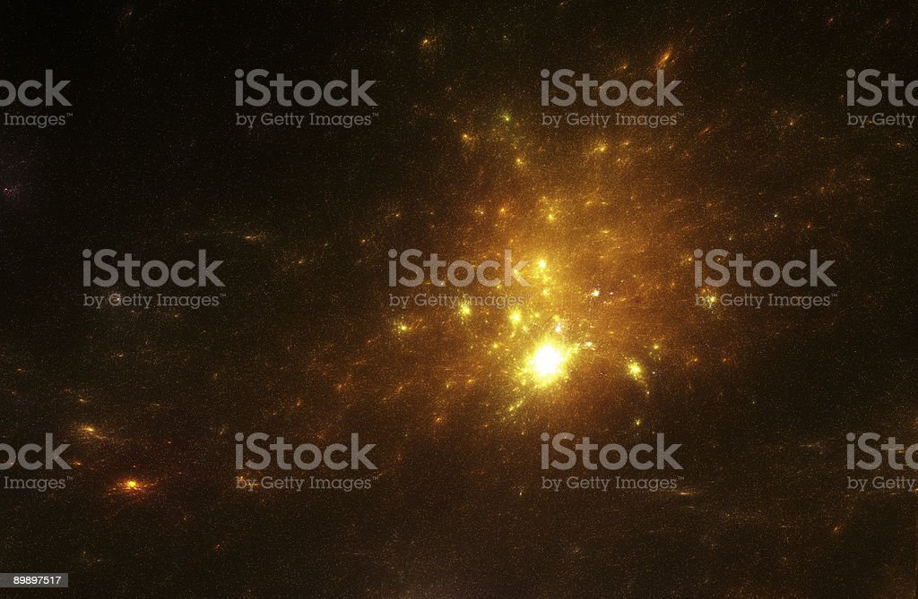 Orange space galaxy royalty-free stock photo