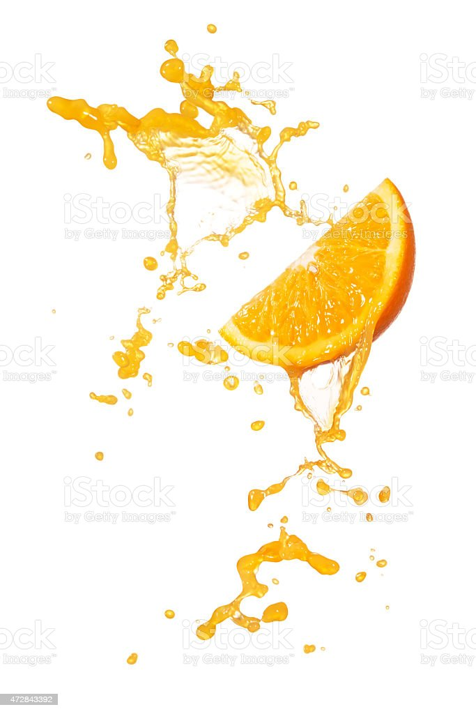 orange splash stock photo