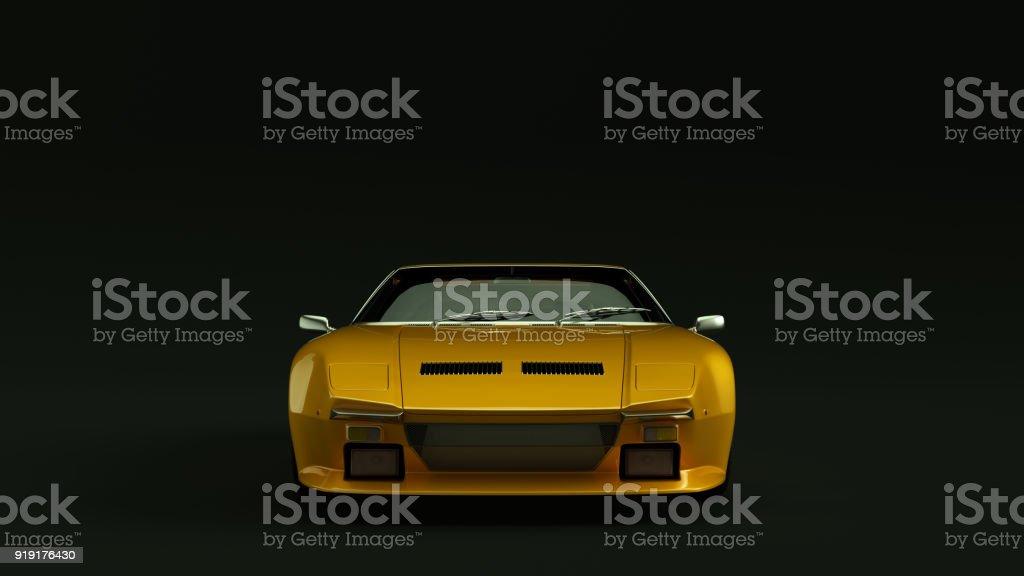 1971 Orange Sports Car stock photo