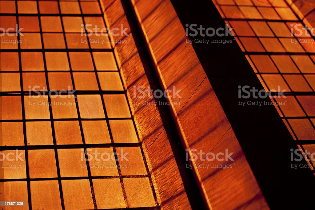Orange Stained Glass Window royalty-free stock photo