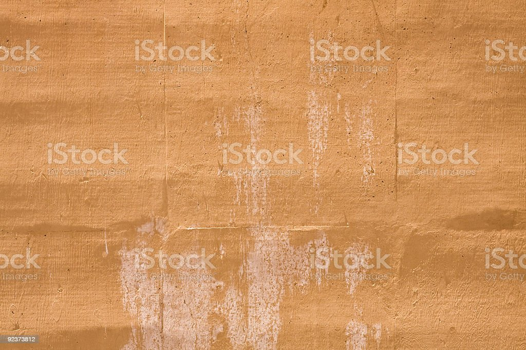Orange Stained Wall royalty-free stock photo