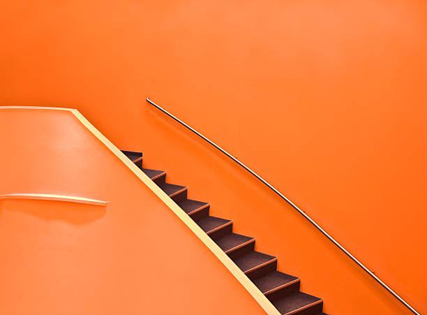 Orange Staircase stock photo