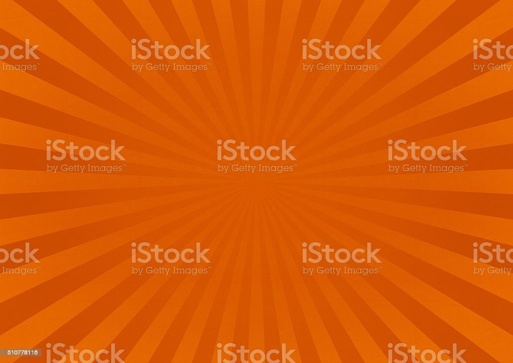 Orange Star Burst Background With Fabric Texture stock photo