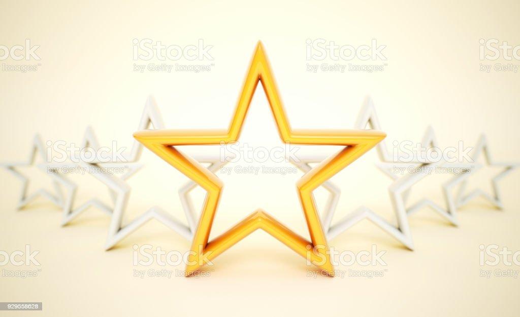 Orange Sterne - – Foto