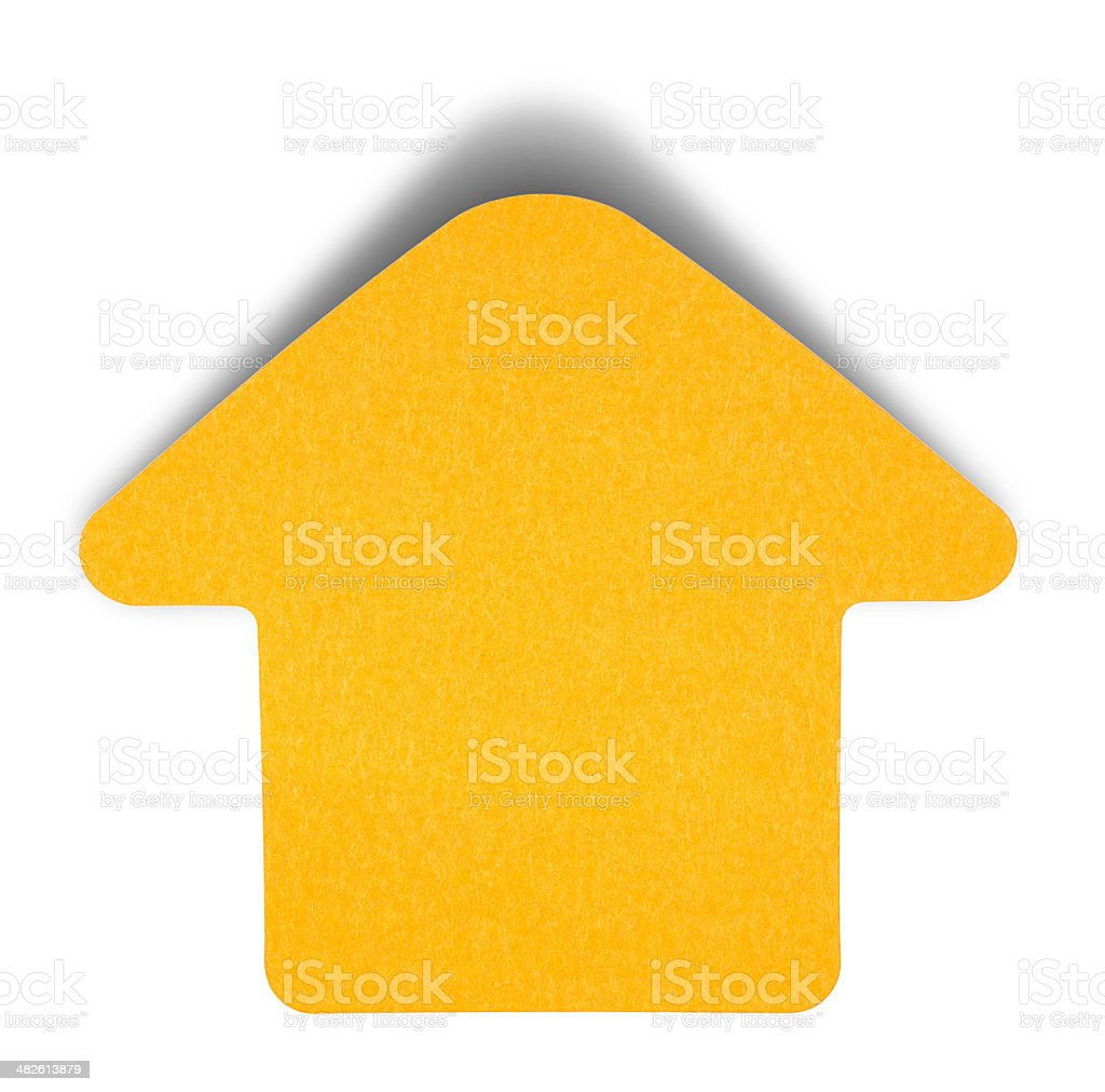 Orange sticky note isolated stock photo