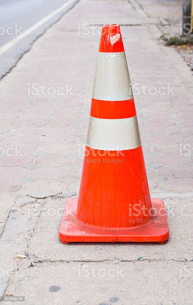 Orange Street Cone. stock photo