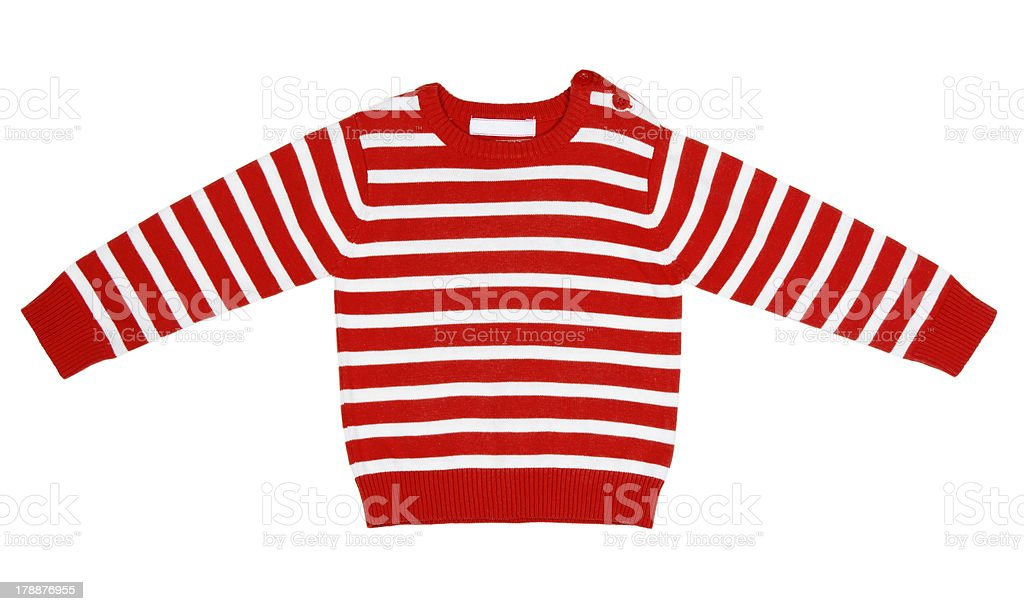 orange striped sweater for children royalty-free stock photo