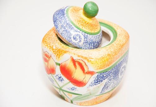 orange sugar-bowl for tea
