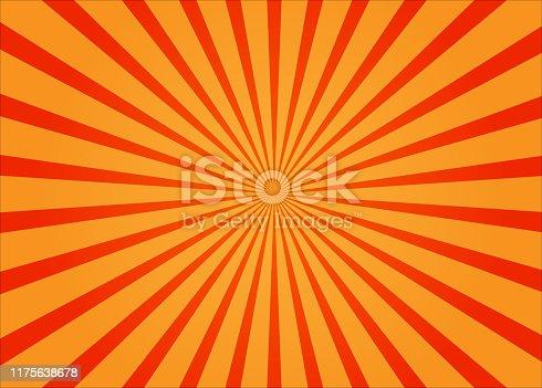 istock orange sunburst ray background 1175638678