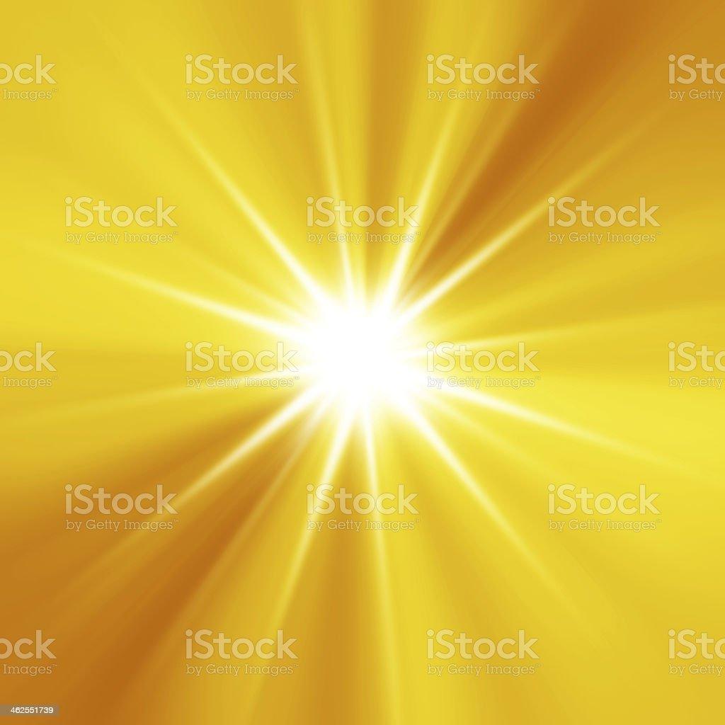 Orange sunburst summer background stock photo