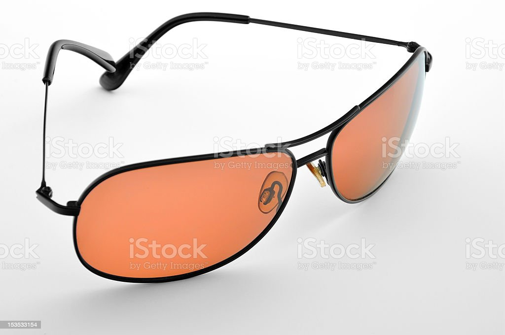 Orange sunglasses. stock photo