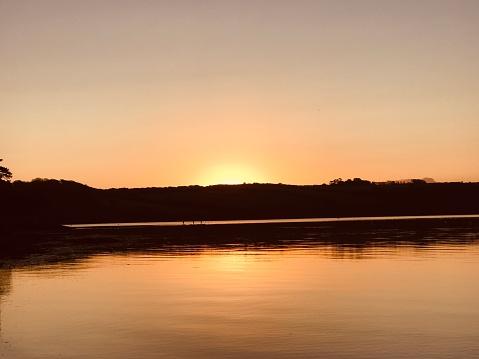 orange sunrise over Roseland