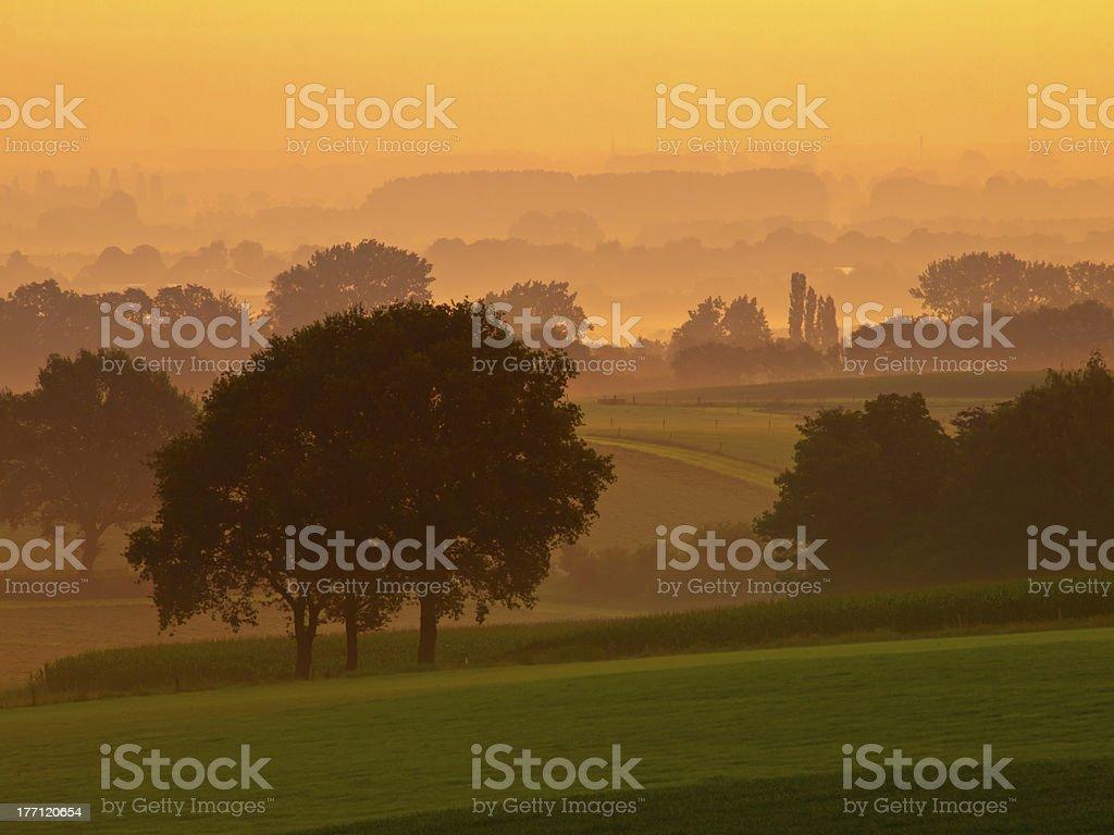 orange sunrise royalty-free stock photo