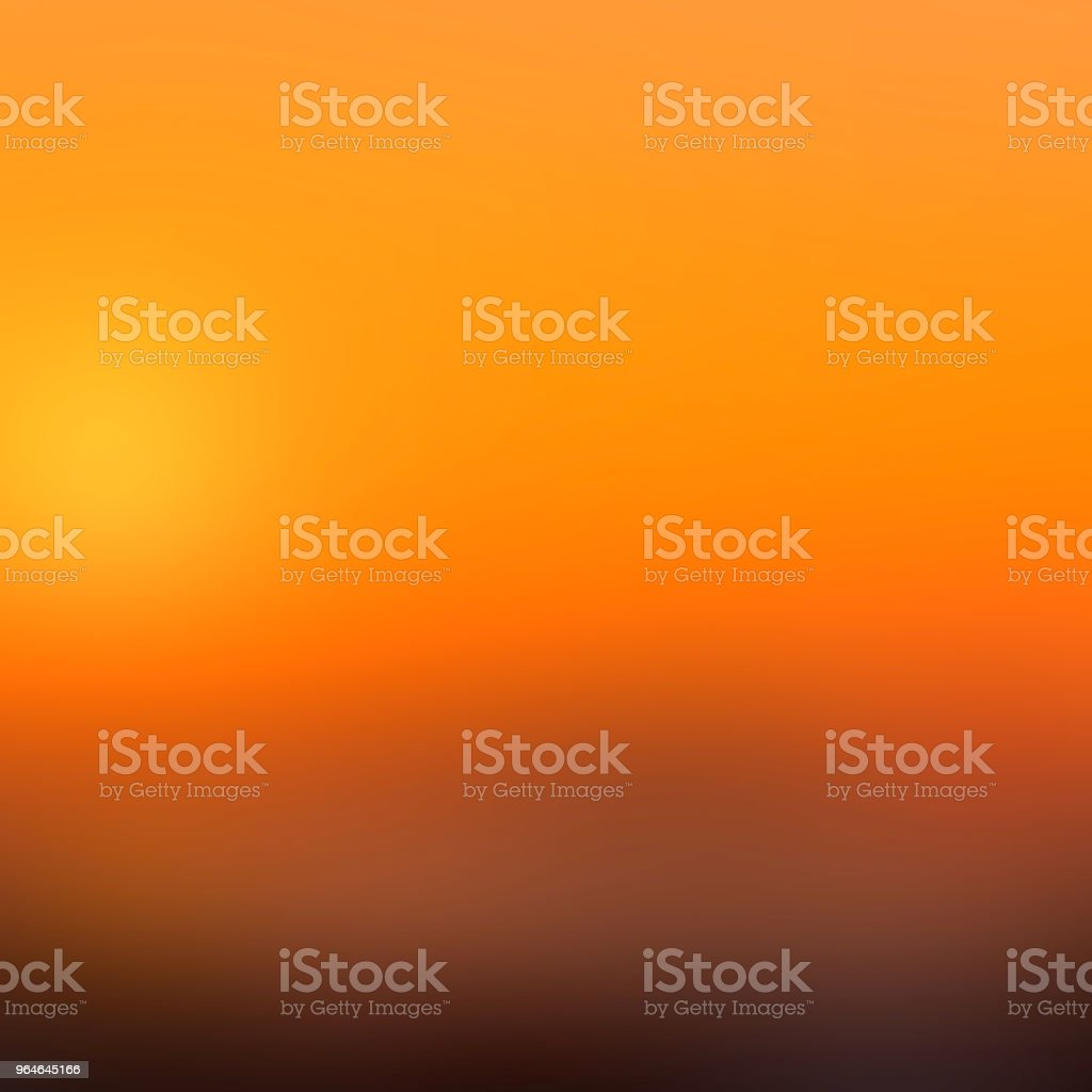 Orange sunset abstract blurred background royalty-free stock photo