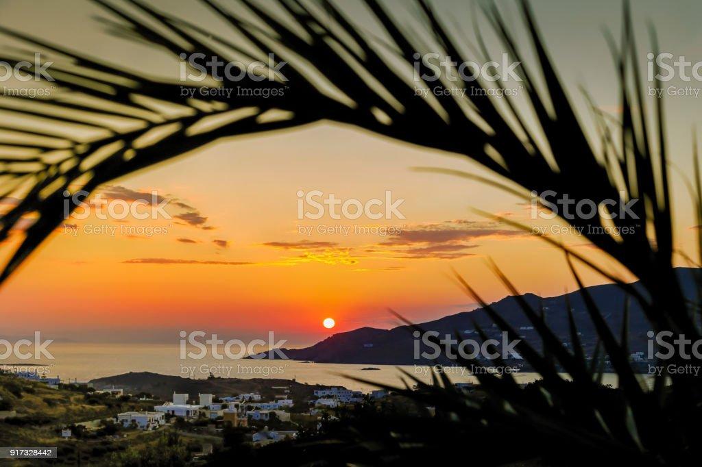Orange Sunset. Landcape Photography. stock photo