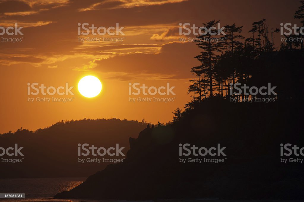 Orange Sunset stock photo