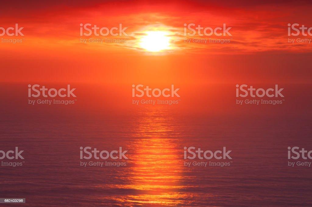橘黃色的夕陽 免版稅 stock photo