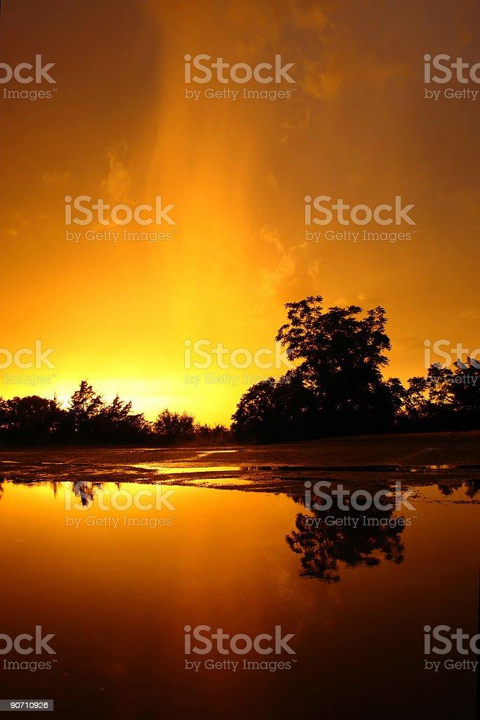 orange sunset royalty-free stock photo
