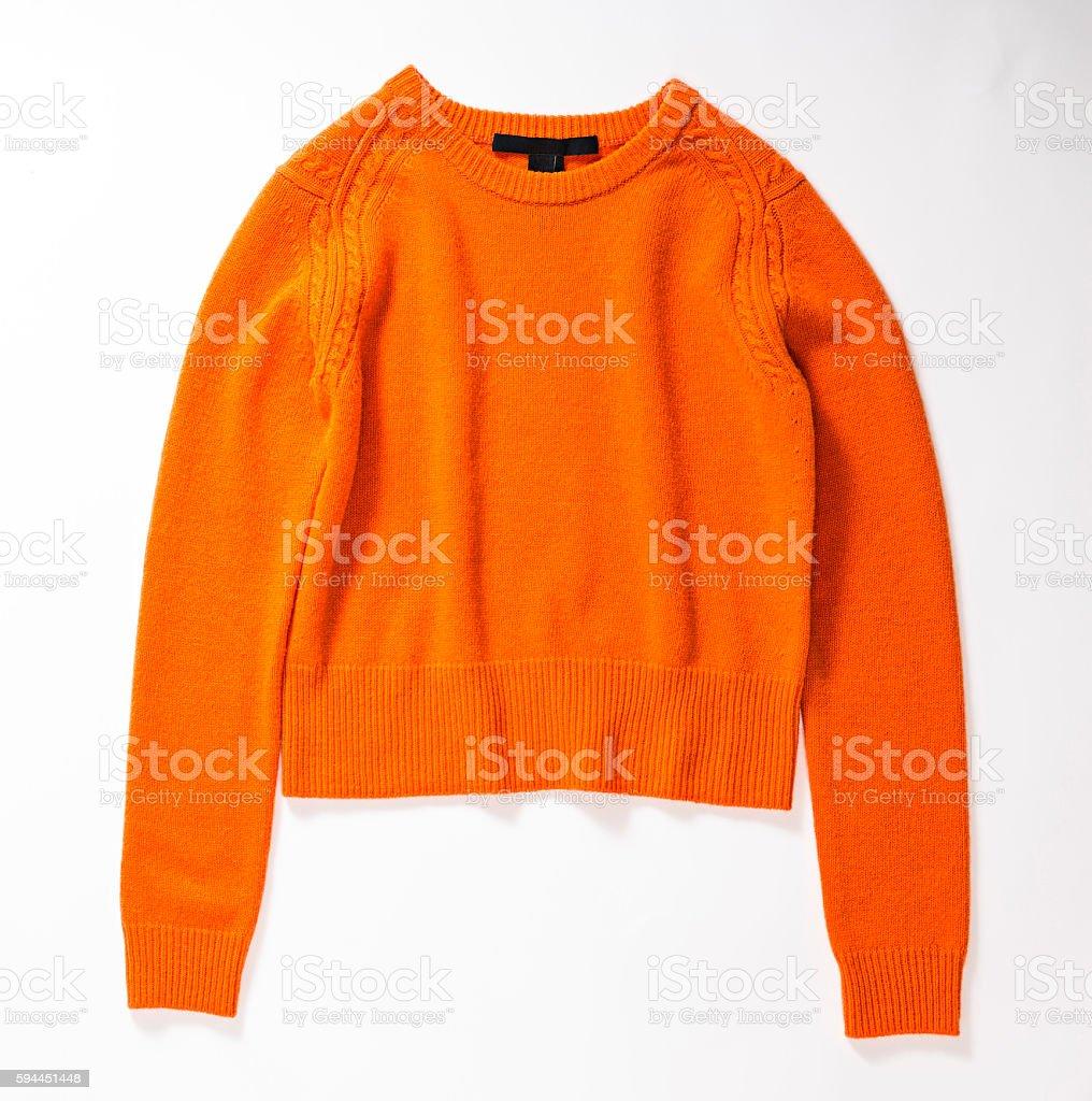 orange sweater stock photo