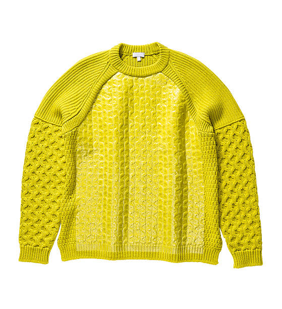 orange sweater orange sweater (isolated with clipping path over white background) blouse stock pictures, royalty-free photos & images