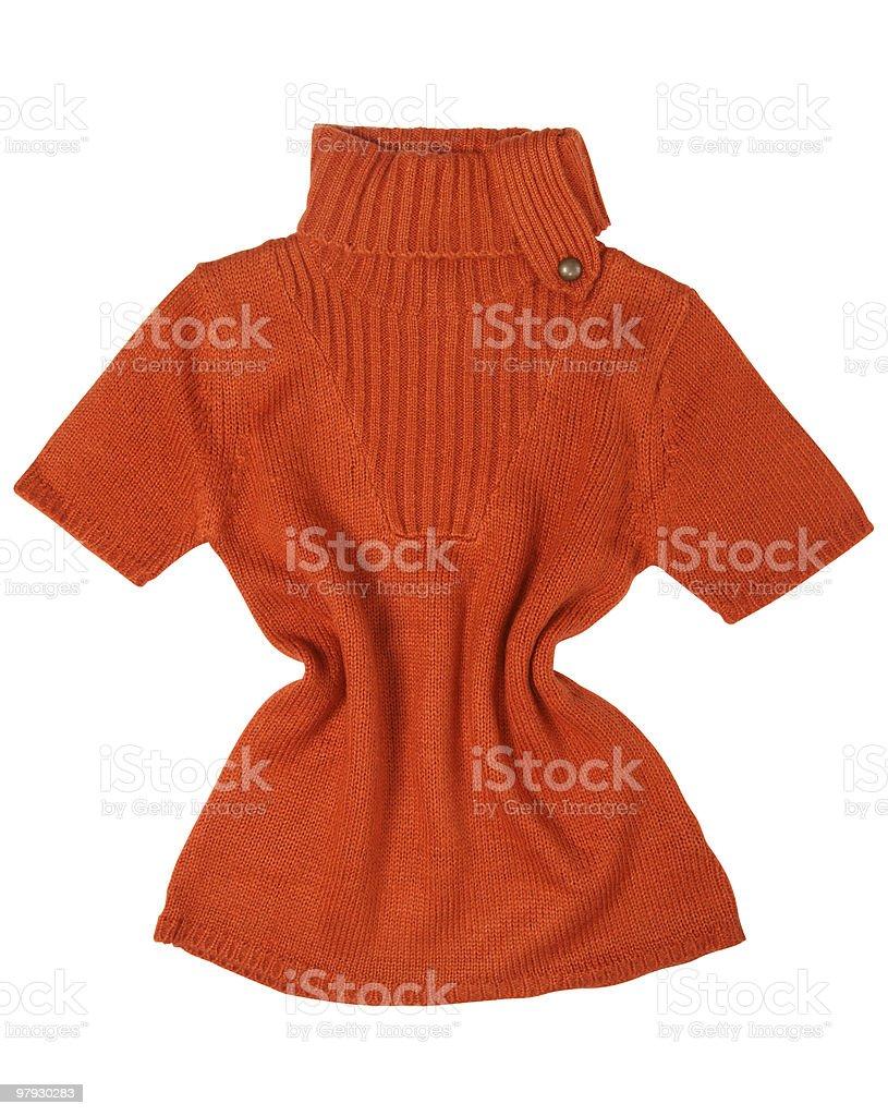 Orange sweater royalty-free stock photo