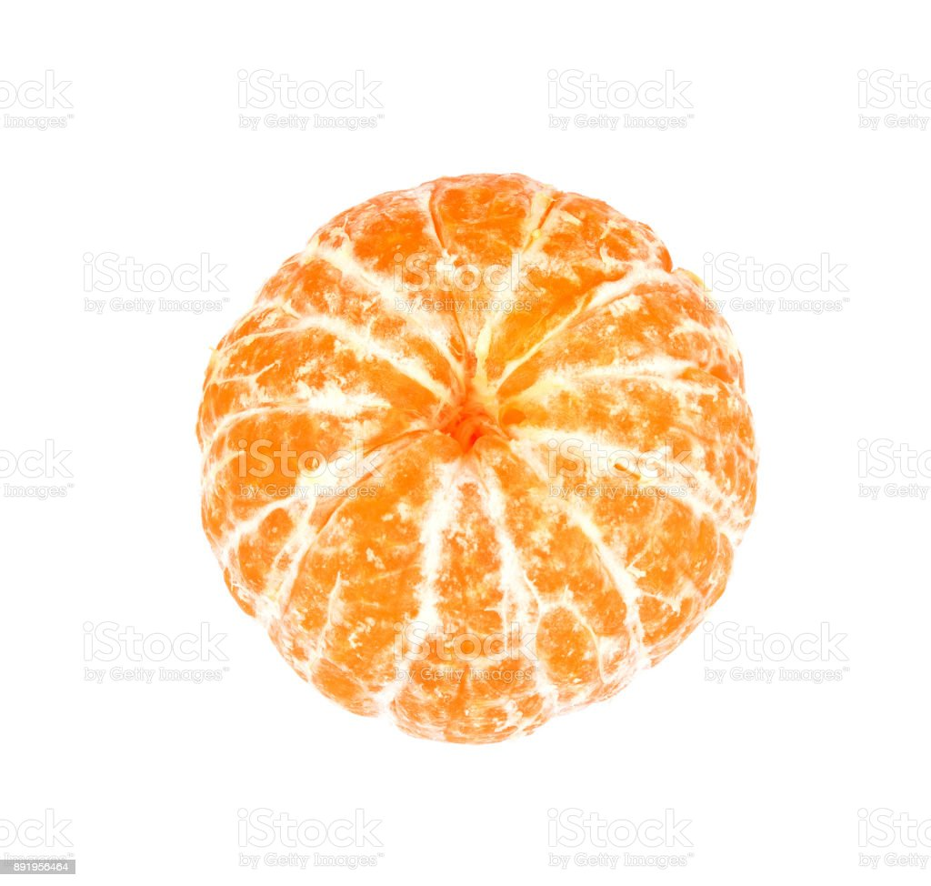 Orange tangerines isolated on a white background stock photo
