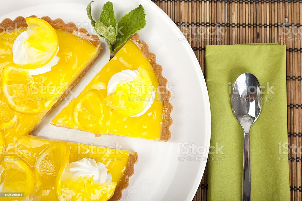 Orange tart royalty-free stock photo