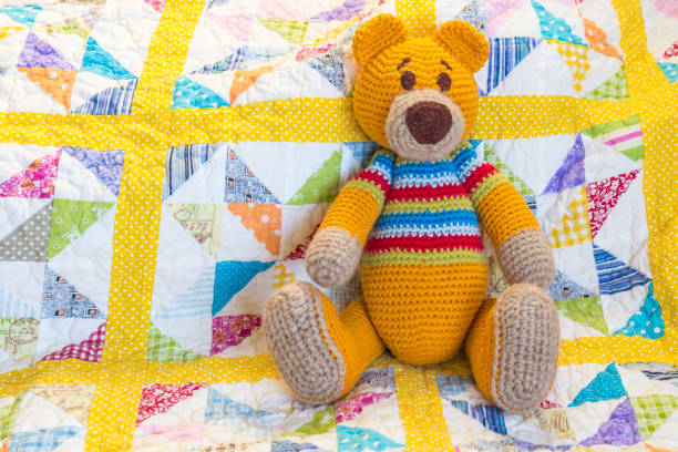 Best Patchwork Teddy Bear Pattern Stock Photos, Pictures & Royalty