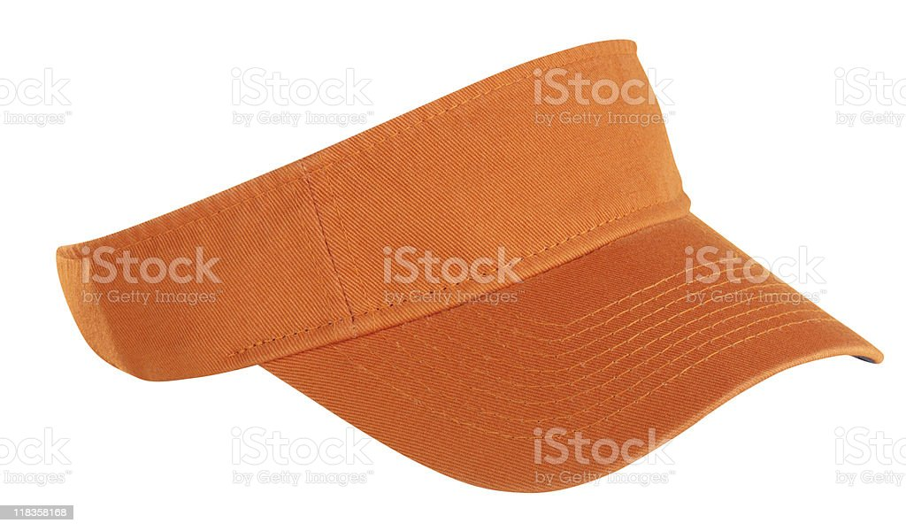 Orange Tennis Visor stock photo