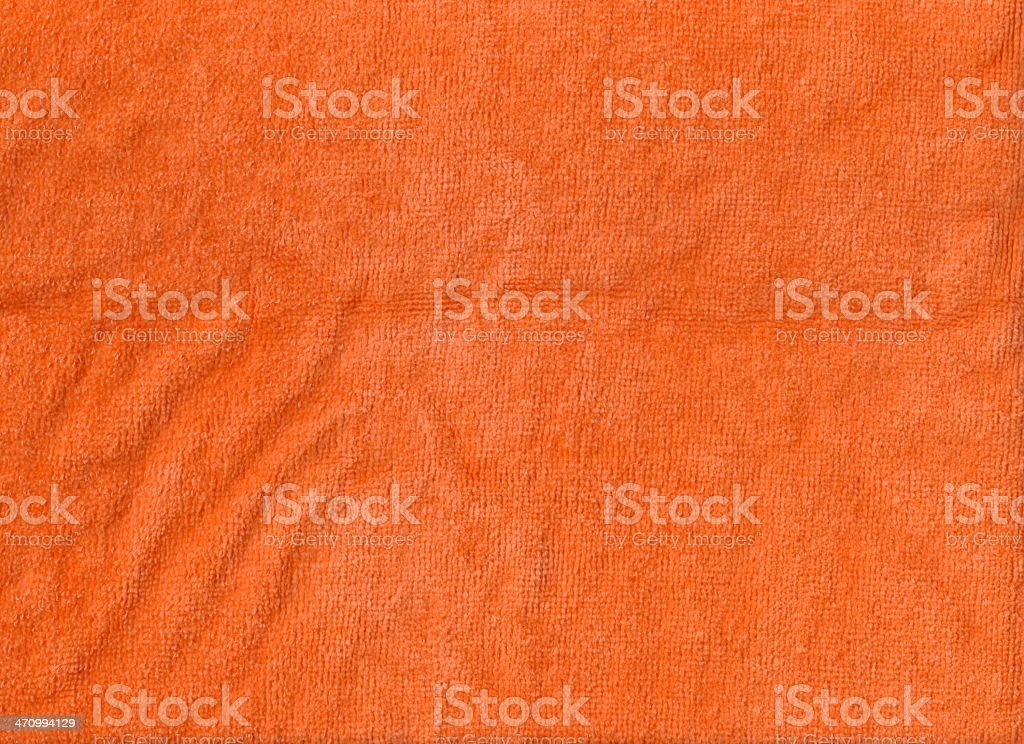 Orange Terry Cloth Fabric stock photo