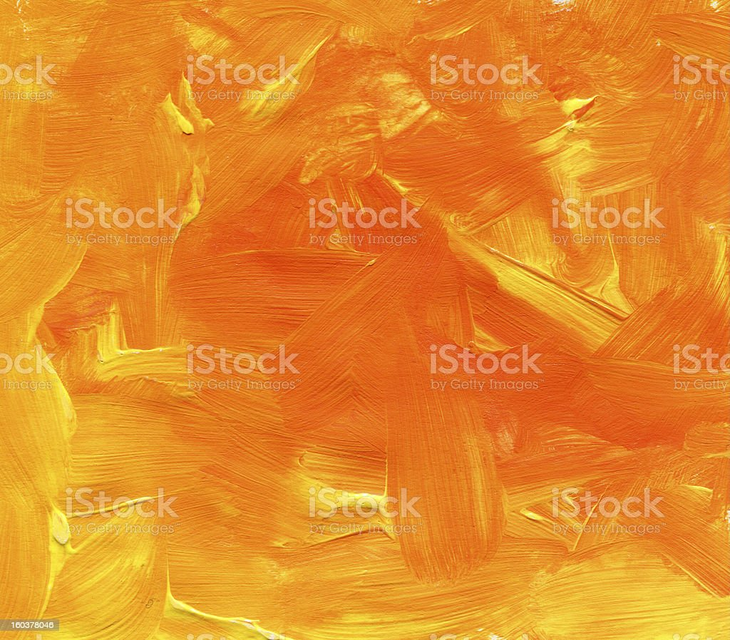 orange textured Abstract Paint royalty-free stock photo
