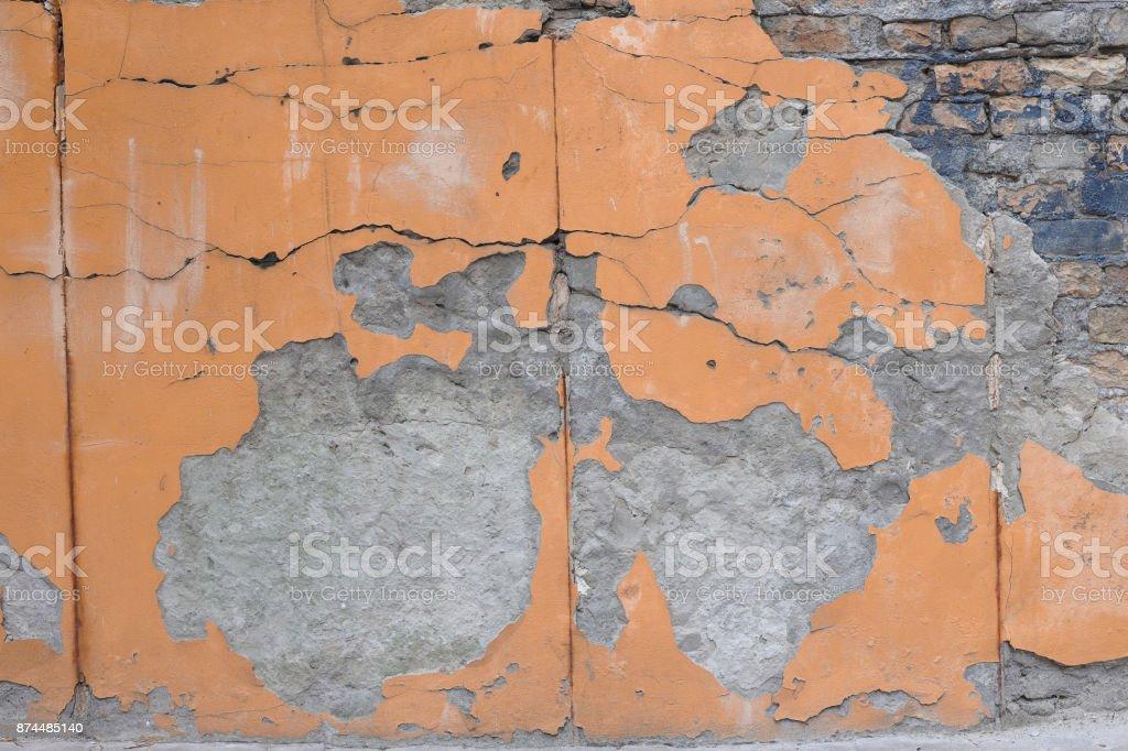 orange textured concrete background stock photo