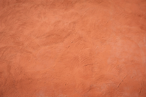 orange wall in old house