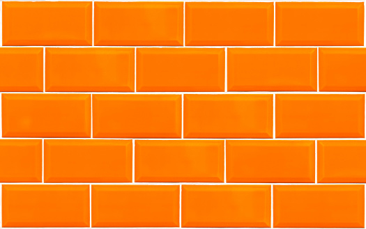 Orange Tile Wall Texture Background Stock Photo Download