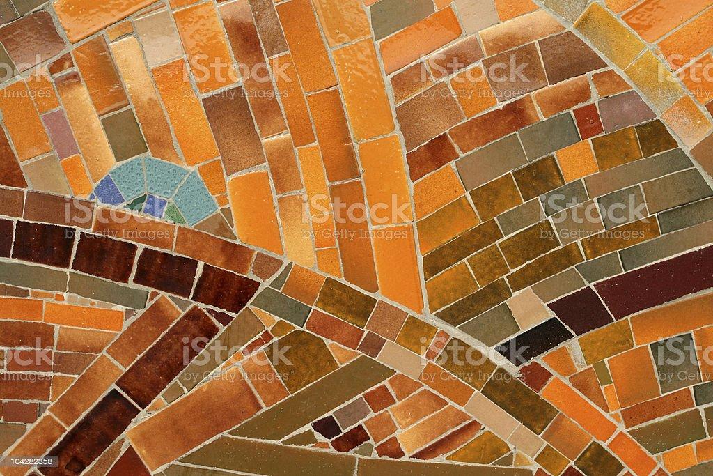Orange tiles royalty-free stock photo