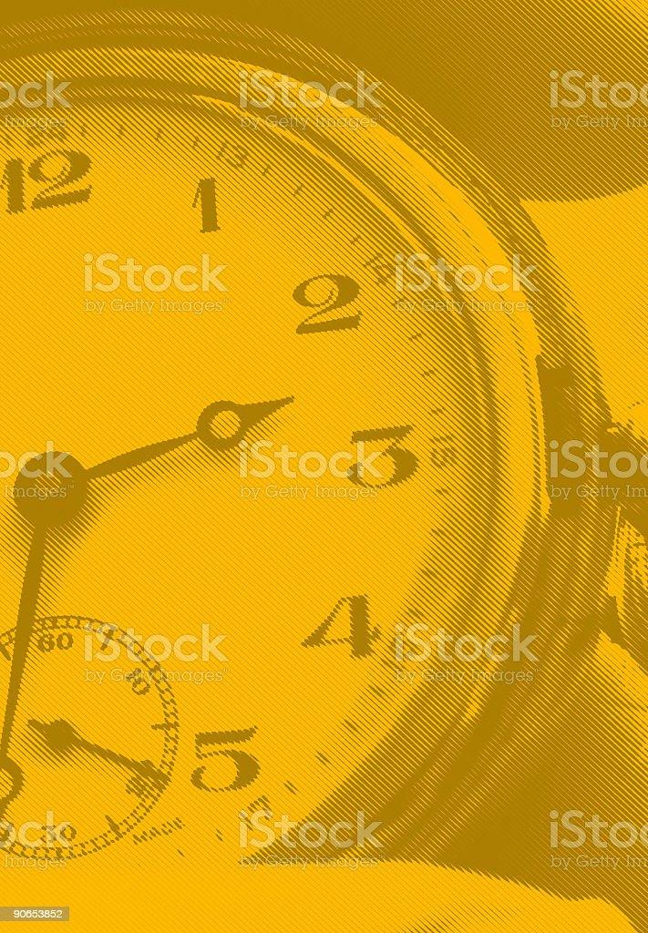 Orange Timing - Line Art royalty-free stock photo