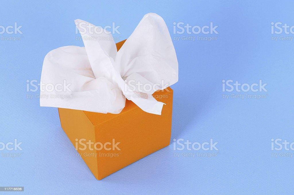 Orange tissue box stock photo