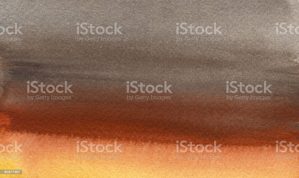 orange to gray watercolor background royalty-free stock photo