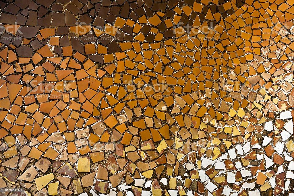 Arancio mosaici di ceramica dai toni gaudì barcellona fotografie