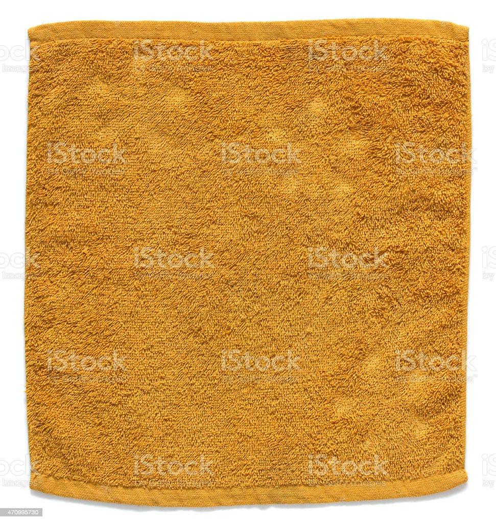 orange towel stock photo