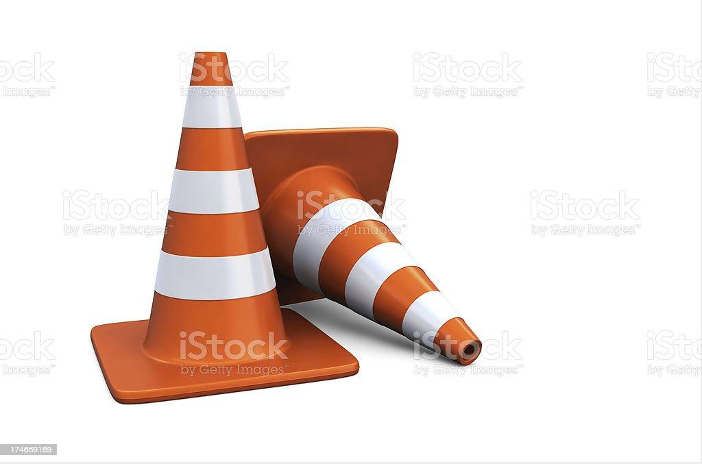 Orange Traffic Cones stock photo