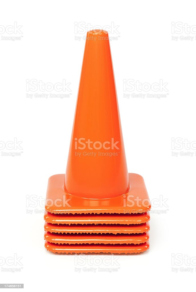 Orange Traffic Cones royalty-free stock photo