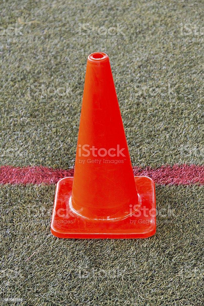 Orange traffice cone royalty-free stock photo