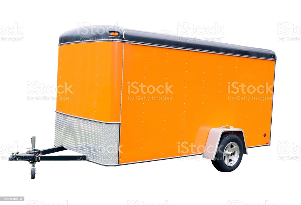 Orange Trailer stock photo