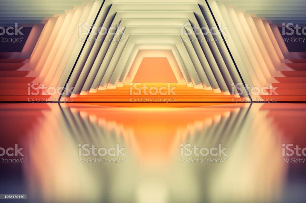 Orange trapezium shapes stock photo