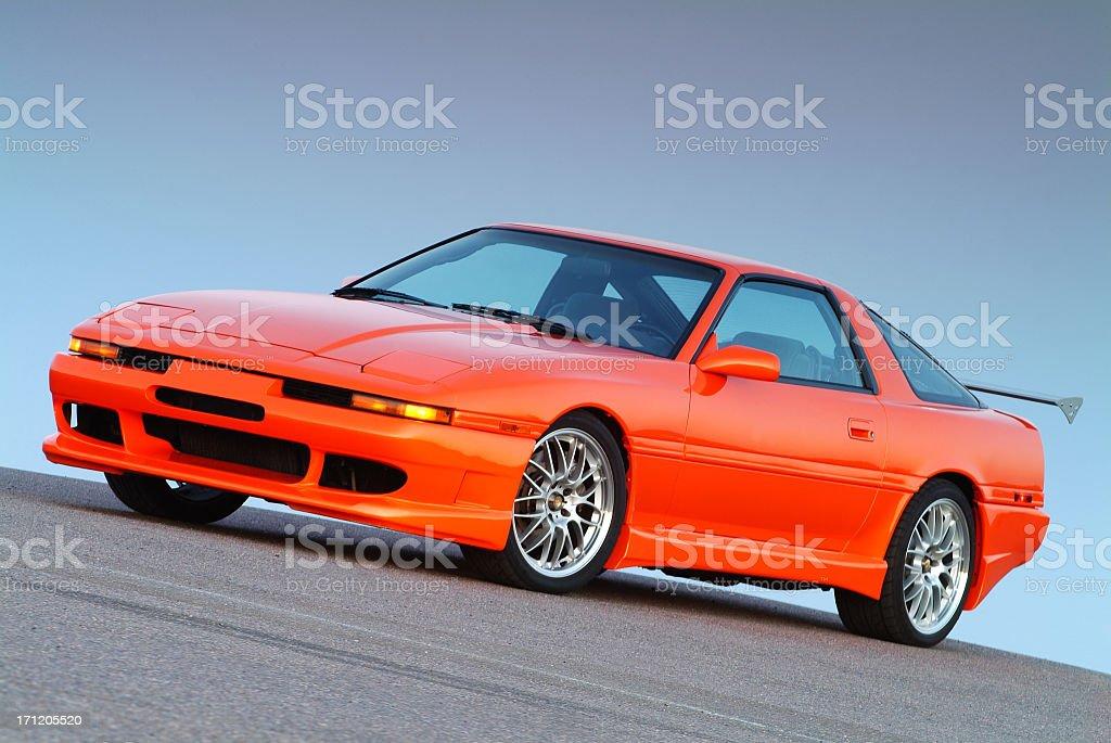 Orange Turbo Sports Car royalty-free stock photo