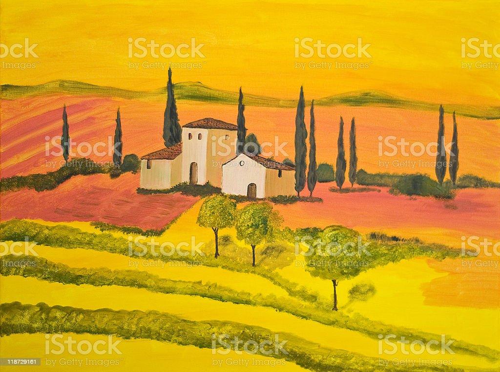 Orange Tuscany royalty-free stock photo