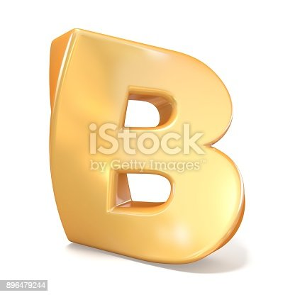 845304606 istock photo Orange twisted font uppercase letter B 3D 896479244