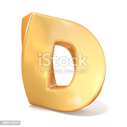 184385936 istock photo Orange twisted font uppercase letter D 3D 896479242